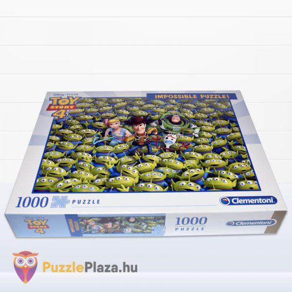 1000 darabos Toy Story 4 Lehetetlen Puzzle. Clementoni 39499 fektetve