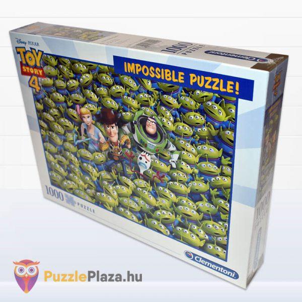 1000 darabos Toy Story 4 Lehetetlen Puzzle. Clementoni 39499 oldalról