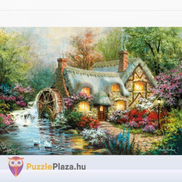1500 darabos vidéki nyugalom puzzle, clementoni 31812 kirakott kép