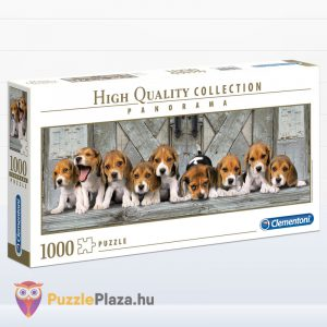 1000 darabos Beagle kölyök kutya panoráma puzzle - Clementoni 39435