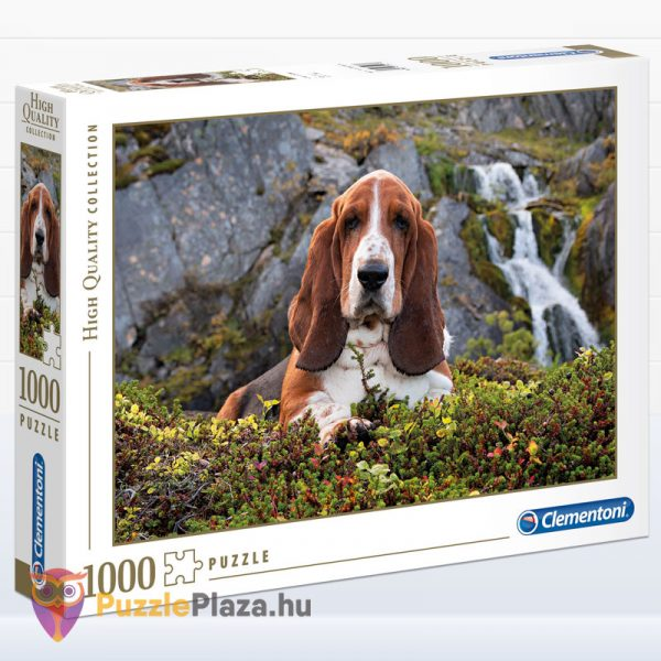 1000 darabos Charlie brown puzzle (basset hound kutya) - Clementoni High Quality Collection 39511