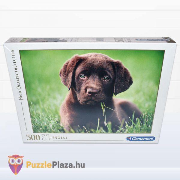 500 darabos, csoki színű, barna kutyua - Clementoni High Quality Collection 35072 - előről