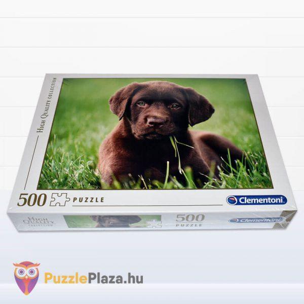 500 darabos, csoki színű, barna kutyua - Clementoni High Quality Collection 35072 - fektetve