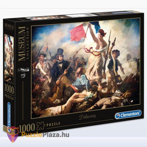 1000 darabos Delacroix - A Szabadság Vezeti a Népet Puzzle - Museum Collection - Clementoni 39549