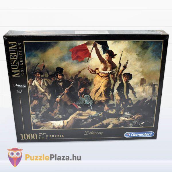 1000 darabos Delacroix - A Szabadság Vezeti a Népet Puzzle - Museum Collection - Clementoni 39549 előről