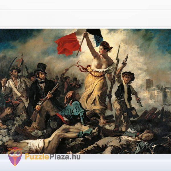 1000 darabos Delacroix - A Szabadság Vezeti a Népet Puzzle - Museum Collection - Clementoni 39549 kirakott kép