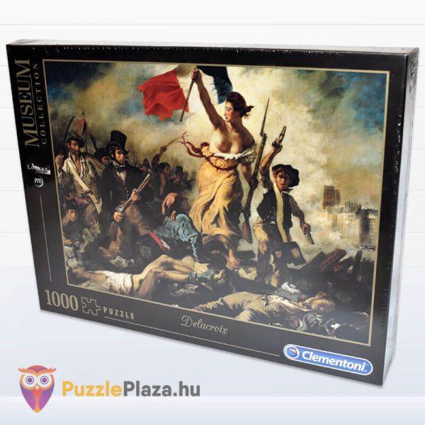 1000 darabos Delacroix - A Szabadság Vezeti a Népet Puzzle - Museum Collection - Clementoni 39549 oldalról