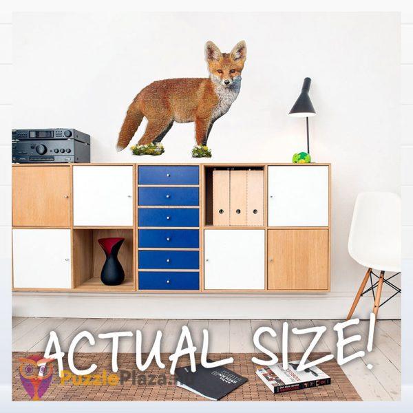 100 darabos rokás forma puzzle junior. Wow Toys 4001 - kirakott kép a falon
