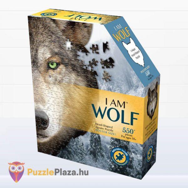 550 darabos farkas forma puzzle doboza - Wow Toys 3003