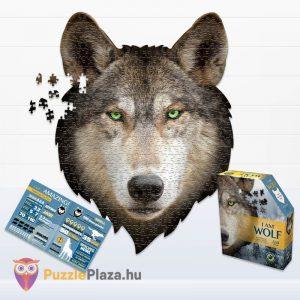 550 darabos farkas forma puzzle, poszter és a kirakó doboza - Wow Toys 3003