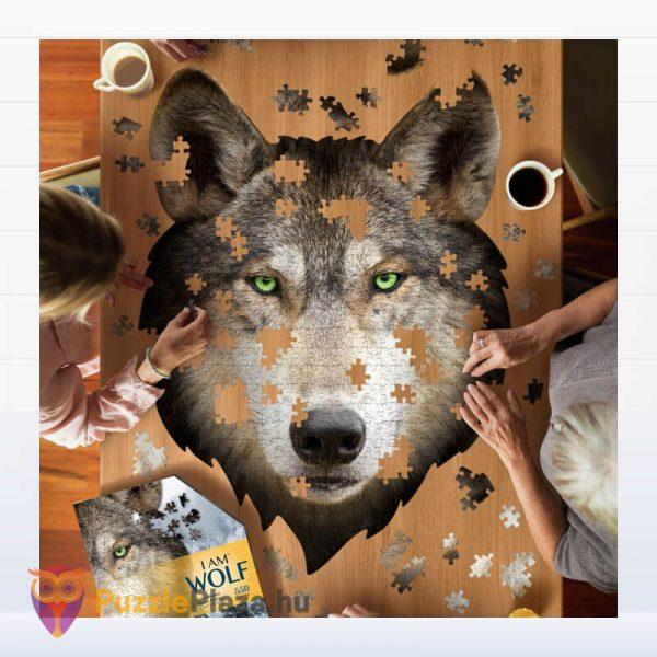 550 darabos farkas forma puzzle kirakózás közben - Wow Toys 3003