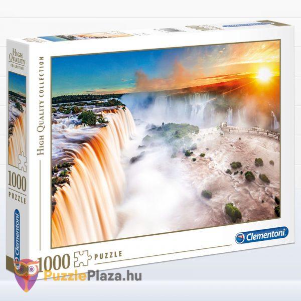 1000 darabos Iguazu vízesés puzzle, a High Quality Collection tagja. Clementoni 39385
