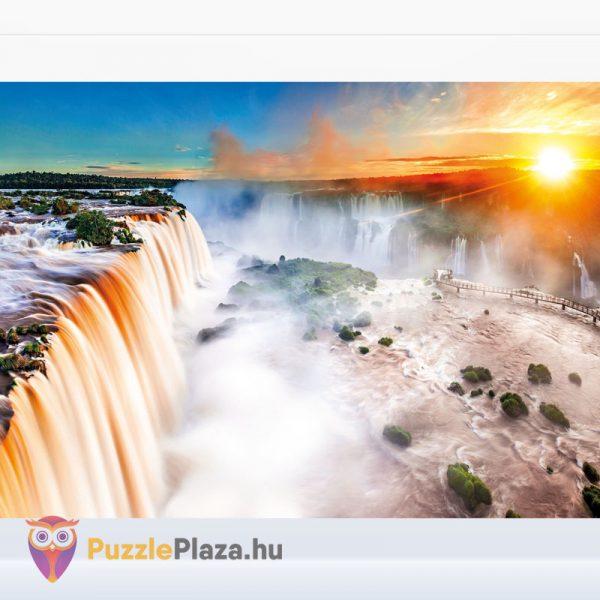 1000 darabos Iguazu vízesés puzzle, a High Quality Collection tagja. Clementoni 39385 - kirakott kép