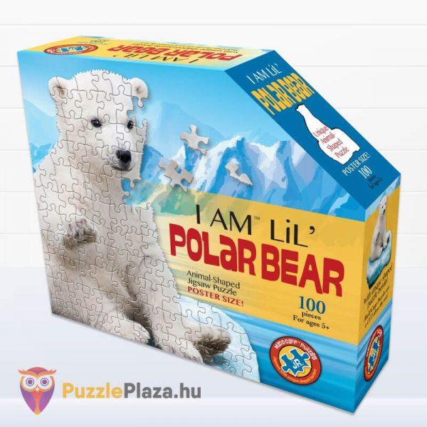 100 darabos jegesmedve formájú puzzle, wow toys