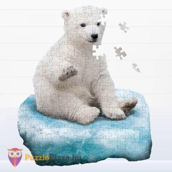 100 darabos jegesmedve formájú puzzle, wow toys - kirakott kép