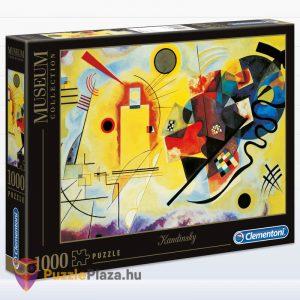 1000 darabos Kandinszkij (Sárga, Vörös, Kék) Puzzle - Clementoni Múzeum Kollekció 39195