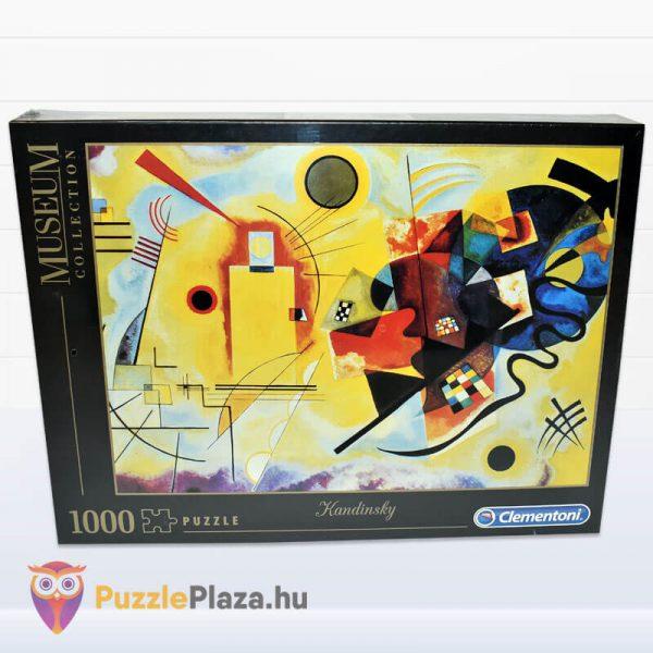 1000 darabos Kandinszkij (Sárga, Vörös, Kék) Puzzle - Clementoni Múzeum Kollekció 39195 előről