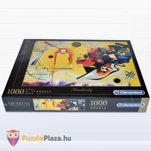 1000 darabos Kandinszkij (Sárga, Vörös, Kék) Puzzle - Clementoni Múzeum Kollekció 39195 fektetve