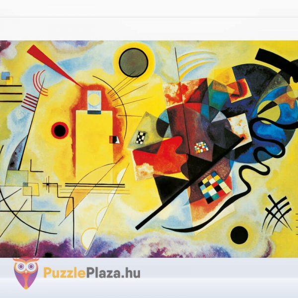1000 darabos Kandinszkij (Sárga, Vörös, Kék) Puzzle - Clementoni Múzeum Kollekció 39195 kirakott kép