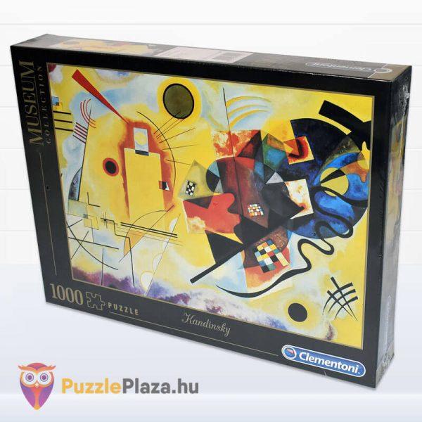 1000 darabos Kandinszkij (Sárga, Vörös, Kék) Puzzle - Clementoni Múzeum Kollekció 39195 oldalról