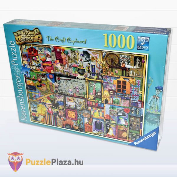 1000 darabos kézműves szekrény Puzzle (Colin Thompson által festett) - Ravensburger 19412 elforgatva