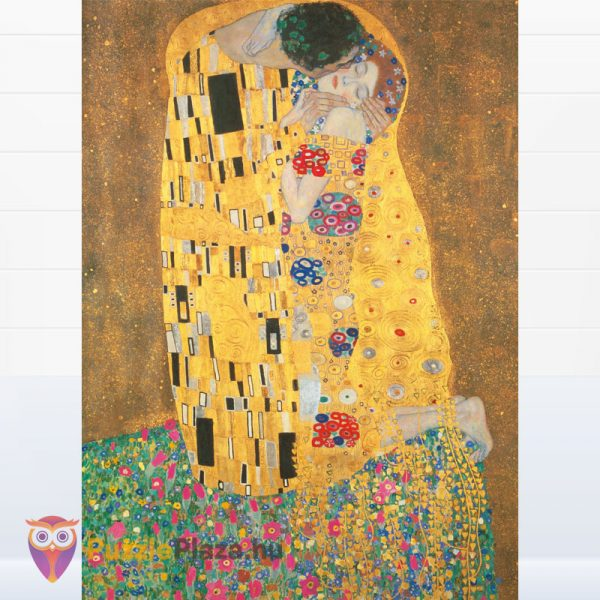 1000 darabos Klimt - A Csók Puzzle - Clementoni Museum Collection 31442 kirakott kép