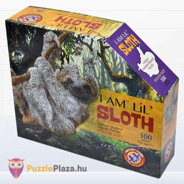 100 darabos lajhár formájú puzzle, Wow Toys - balról