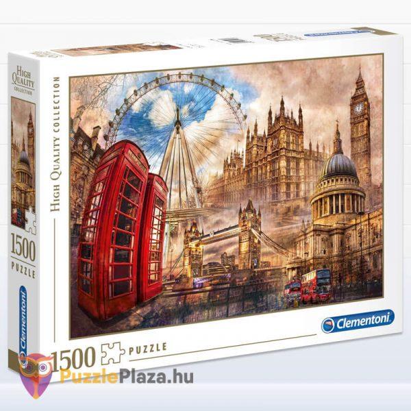 1500 darabos Londoni Nosztalgia Puzzle, Clementoni 31807