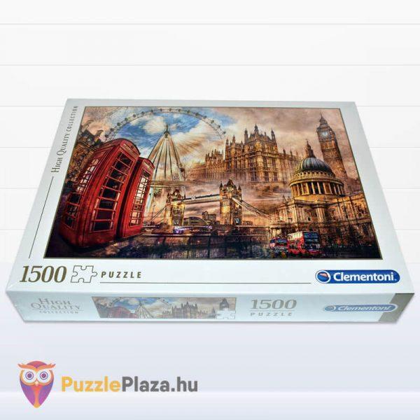 1500 darabos Londoni Nosztalgia Puzzle, Clementoni 31807 fektetve