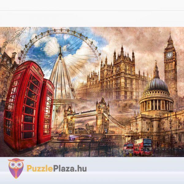 1500 darabos Londoni Nosztalgia Puzzle, Clementoni 31807 kirakott kép