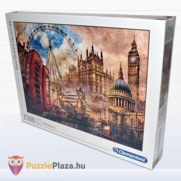 1500 darabos Londoni Nosztalgia Puzzle, Clementoni 31807 oldalról