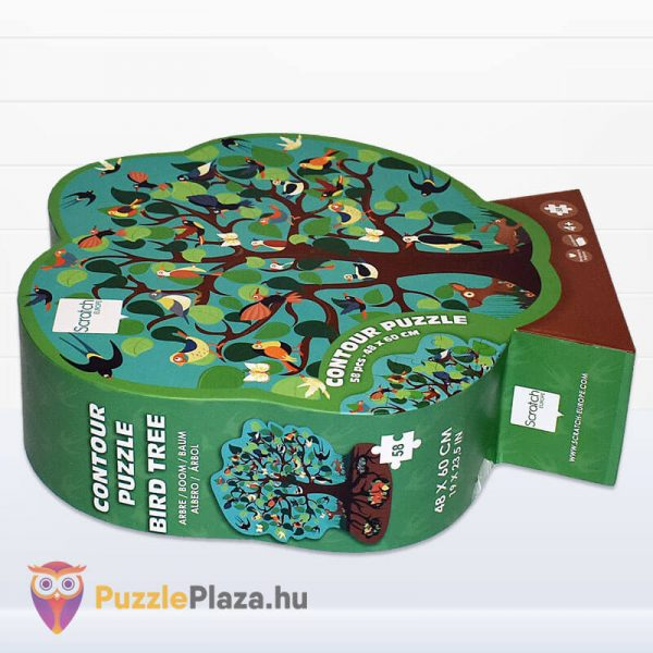 58 darabos madarak a fán forma puzzle - Scratch Europe - fektetve