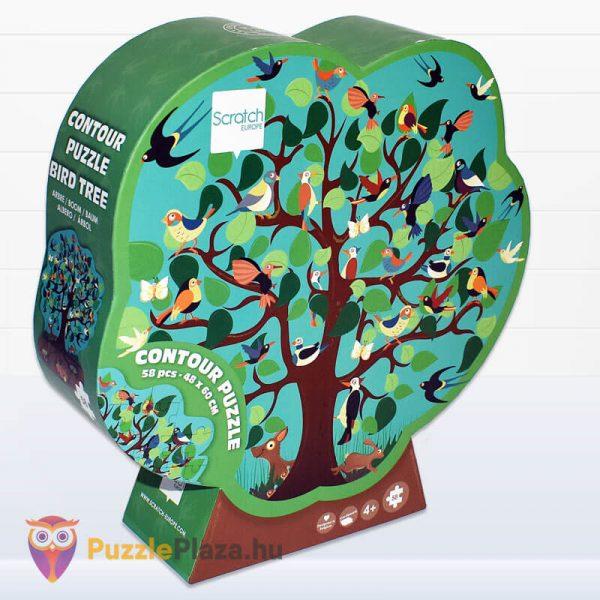 58 darabos madarak a fán forma puzzle - Scratch Europe - jobbról