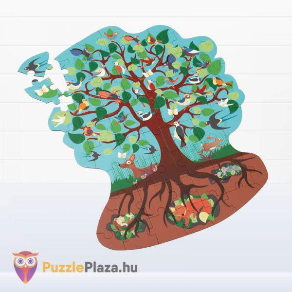58 darabos madarak a fán forma puzzle - Scratch Europe - kirakott kép