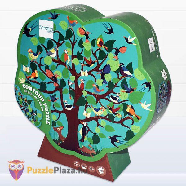 58 darabos madarak a fán forma puzzle - Scratch Europe - balról