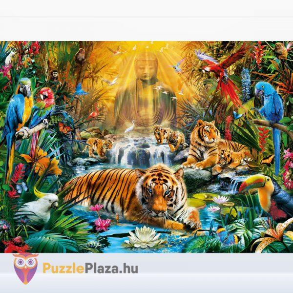 1000 darabos misztikus tigrisek puzzle - Clementoni High Quality Collection 39380 kirakott kép