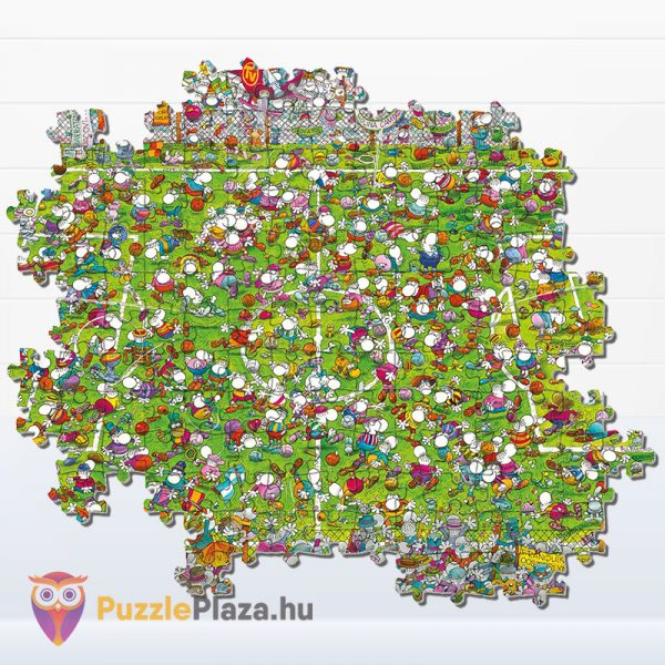 1000 darabos Mordillo - A Meccs puzzle - Clementoni 39537 - kirakó darabkái