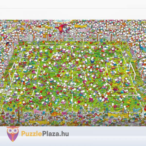 1000 darabos Mordillo - A Meccs puzzle - Clementoni 39537 - kirakott kép