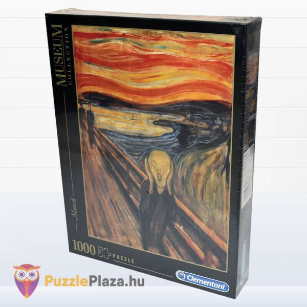 1000 darabos Munch - A Sikoly Puzzle - Clementoni Múzeum Kollekció 39377 elforgatva