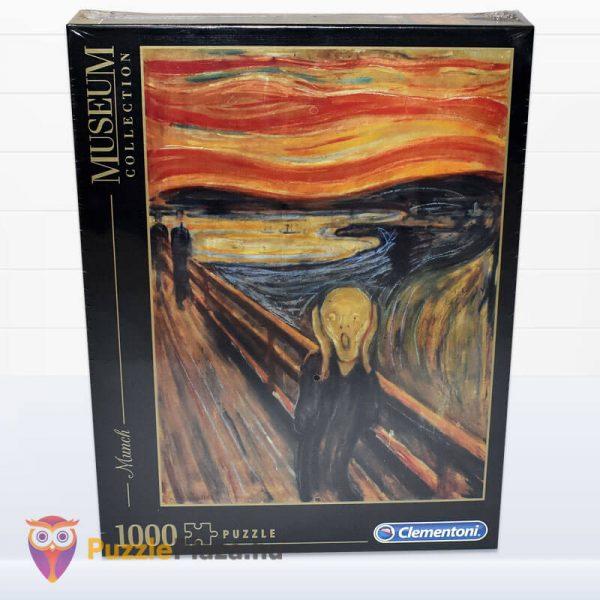 1000 darabos Munch - A Sikoly Puzzle - Clementoni Múzeum Kollekció 39377 előről