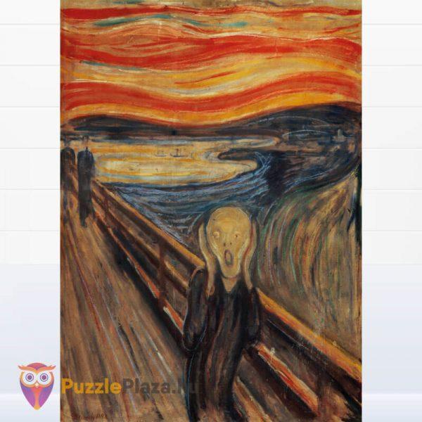1000 darabos Munch - A Sikoly Puzzle - Clementoni Múzeum Kollekció 39377 kirakott kép
