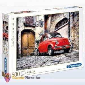 500 darabos Olasz stílus (piros FIat Cinquencento autó) Puzzle - Clementoni 30575