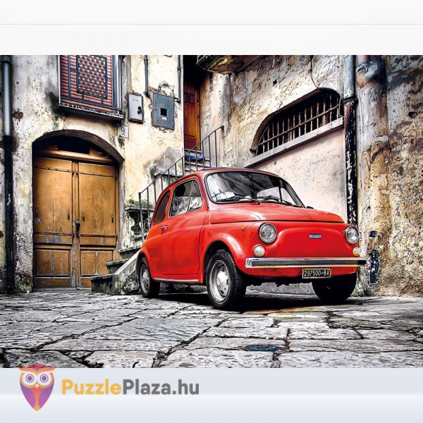 500 darabos Olasz stílus (piros FIat Cinquencento autó) Puzzle - Clementoni 30575 kirakott kép