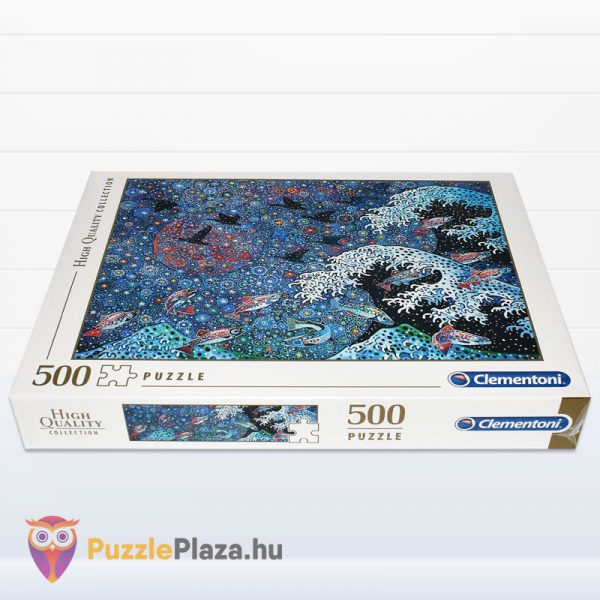 500 darabos Tánc a Csillagokkal puzzle. Clementoni - High Quality Collection 35074 fektetve