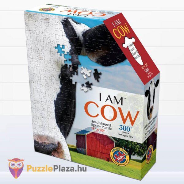 Tehén forma puzzle mini 300 db - Wow Toys doboz