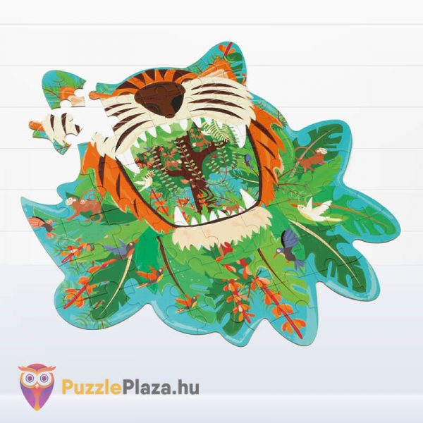 59 darabos tigris forma oktató puzzle - Scratach Europe - kirakott kép elforgatva