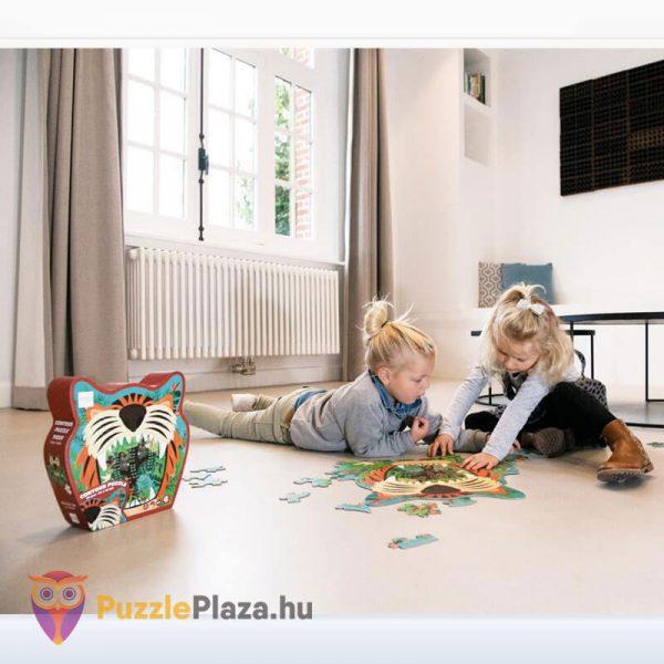 59 darabos tigris forma oktató puzzle - Scratach Europe - kirakózás közben