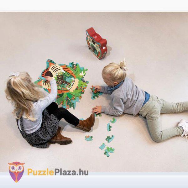 59 darabos tigris forma oktató puzzle - Scratach Europe - játék közben