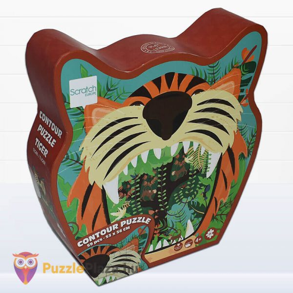 59 darabos tigris forma oktató puzzle - Scratach Europe - oldalról