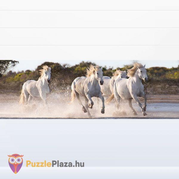 1000 darabos vágtázó fehér lovak panoráma puzzle. Clementoni High Quality Collection 39441 kirakott kép